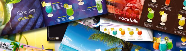 Cartes de cocktails